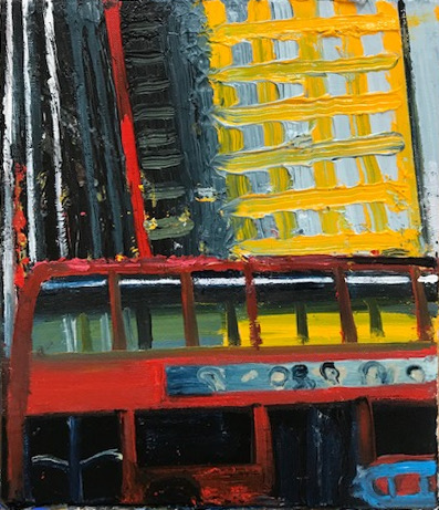 St Giles Yellow oil on canvas 26 X 19 cms